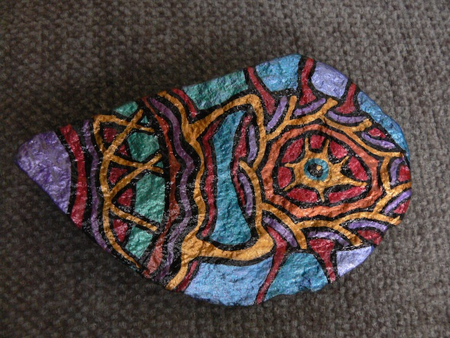 TEMPLE SHELL: Hand-Painted Stones by ROCKSTARZ