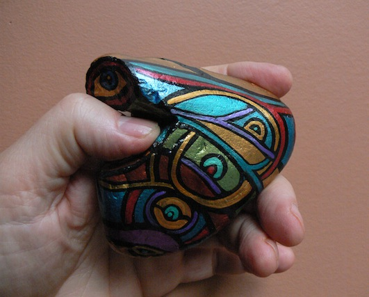 THUMB HOLDER: view 2: Hand-Painted Stones by ROCKSTARZ