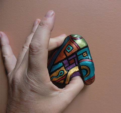 THUMB HOLDER: Hand-Painted Stones by ROCKSTARZ